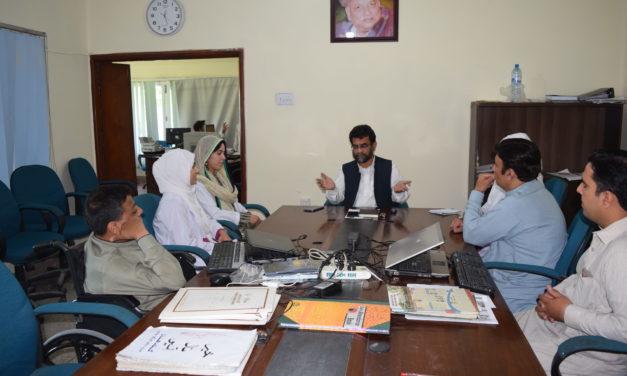 خیبر گرلز میڈیکل کالج کے وفد کا جناب ضیاء الدین سے انٹرویو بروز ہفتہ 18 مئ 2019