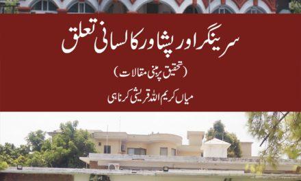 Srinagar aur Peshawar ka Lisani Taluq